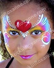 Child Face Painted with decorative heart
