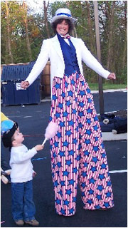 Patriotic themed Stilt Walker