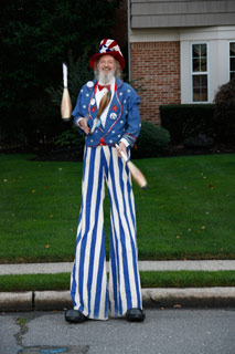 Patriotic Stilt Walker